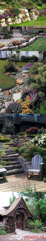 Ландшафтный дизайн: каменная сказка у вас на участке | Наш уютный дом