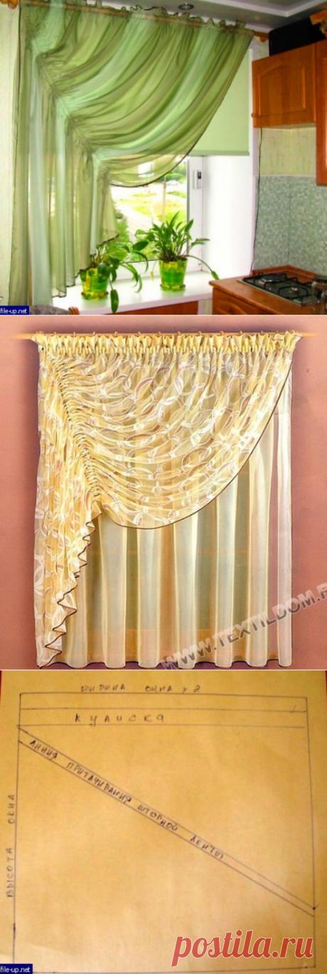 Las cortinas a la cocina
