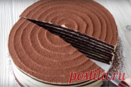 Торт «Спартак»: шоколадный медовик со сметанным кремом