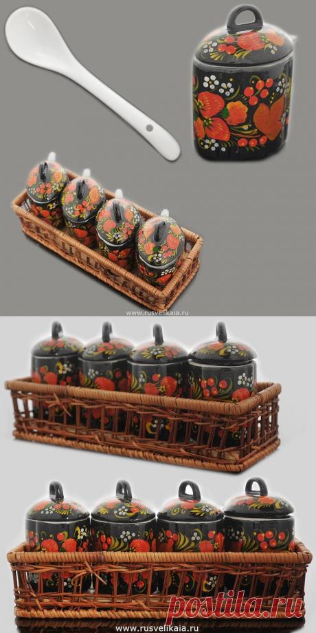 Купить Набор для специй Хохлома за 3 000 ₽ в Москве — 0010292