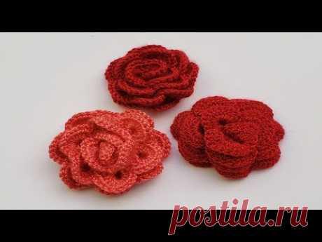 Вязание розы крючком – видео мастер класса для начинающих.