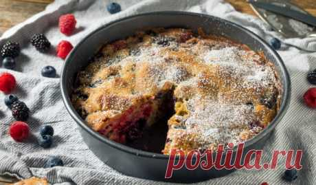 Американский пирог с малиной «Бакл»