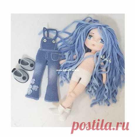 Вязаная кукла с одеждой крючком пошаговая схема с описанием