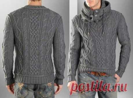 мужской пуловер спицами - Самое интересное в блогах