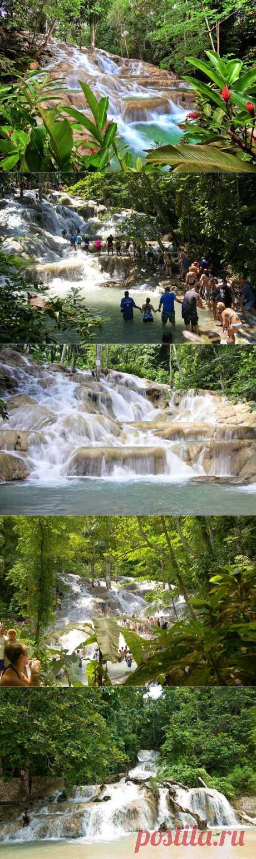 Водопады Даннс-Ривер, Ямайка. | В мире интересного