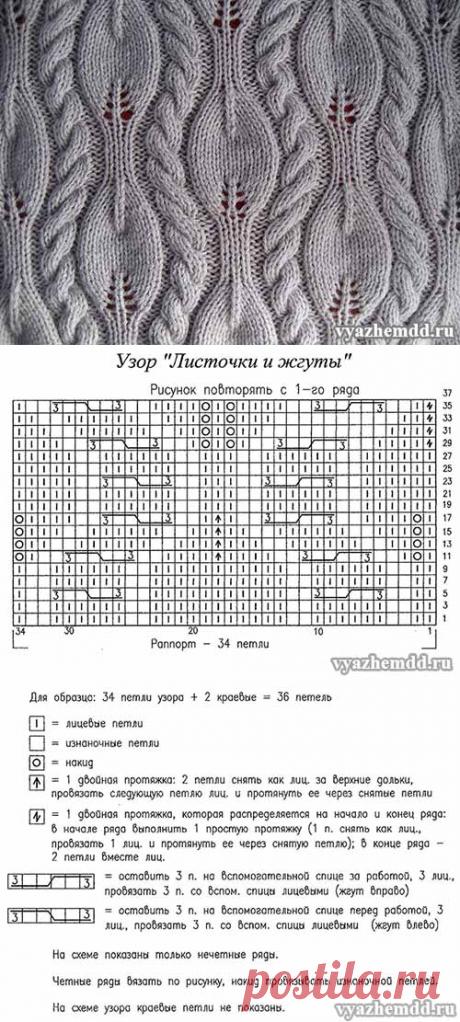 "Pattern of ""Листочки and жгуты"""