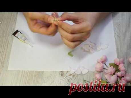 Как сделать цветы яблони из фоамирана (раскрытый цветок) | яблоня из фома