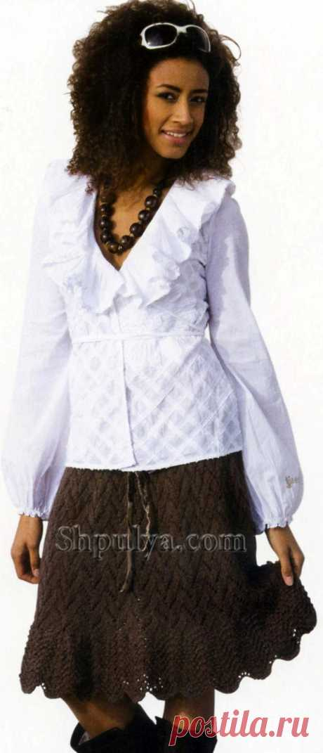 Ажурная юбка спицами - SHPULYA.com