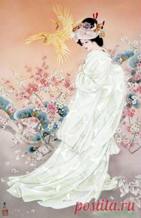 Творчество японской художницы Haruyo Morita. Женщины страны Восходящего солнца