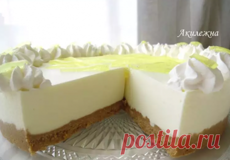 Торт «Лимонное желе» (без выпечки).