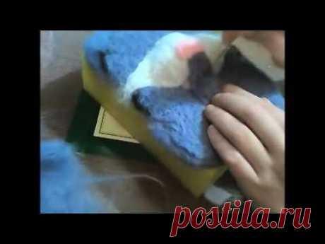 видео урок как сделать кота своими руками. Сухое валяние