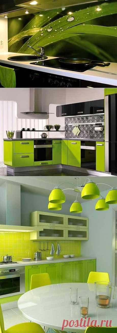 Зеленые кухни: преимущества дизайна