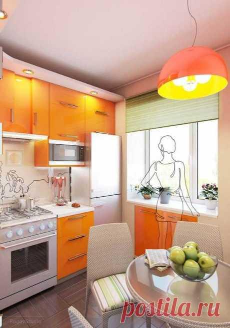 Живой пример: дизайн кухни в хрущёвке / Домоседы