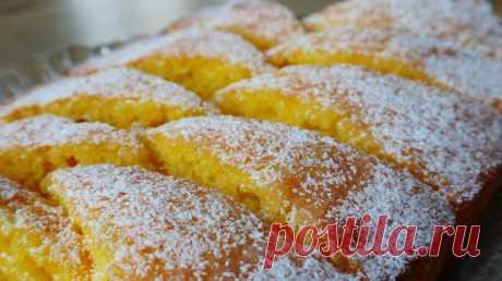 Лимонный пирог-кекс! Палочка-выручалочка для любой хозяйки! — Кулинарная книга - рецепты с фото