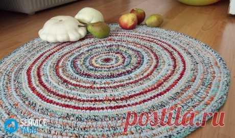 Вязание крючком ковриков для пола 🥝 из тряпок, как сделать лоскутные ковры, мастер класс, фото - ServiceYard-уют вашего дома в Ваших руках.