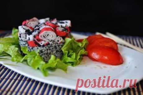 Крабовый салат в японском стиле - кулинарный рецепт.