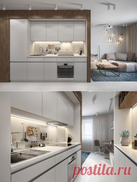 Оригинальная планировка прямоугольной студии 30 кв. м - Дизайн интерьеров   Идеи вашего дома   Lodgers