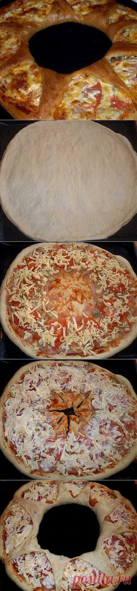 Открытый пирог-венок или НЕ пицца | Четыре вкуса