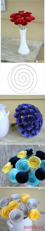 DomPelenPomyslow.pl » Pomysł na kwiatki z papieru