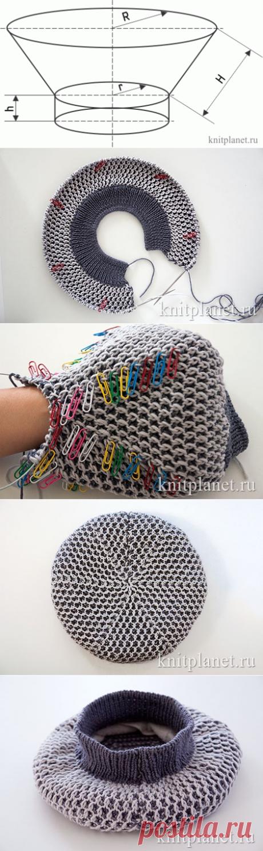 Планета Вязания | Как связать берет спицами. Инструкция для начинающих