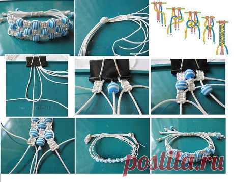 браслет в стиле макраме / Handmade / Бисер,бижутерия,фенечки / Pinme.ru / Надя Угур