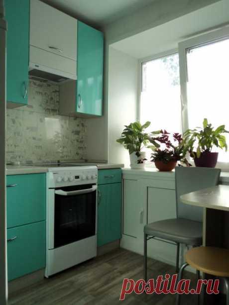 Превращение «гадкого утенка» - кухня 5,5 кв.метров без претензий на стиль и дизайн