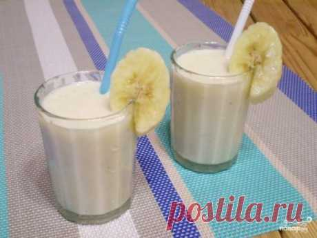 Banana smuz - the step-by-step recipe from a photo on Повар.ру