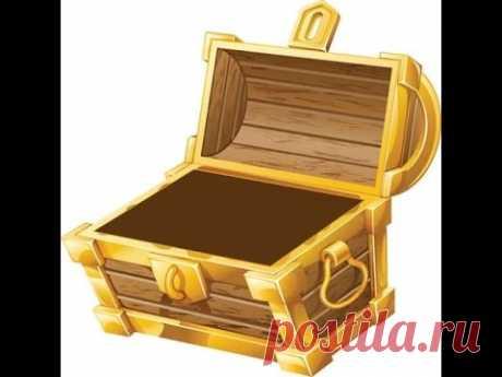 Сундук из картонной коробки - Treasure chest from a cardboard box - 宝藏从一个纸板箱
