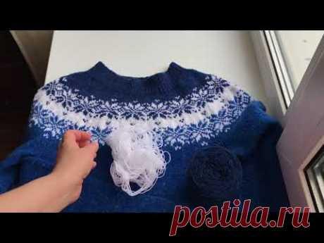 Вязание:  свитер лопапейса из твида