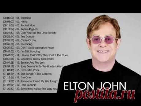 Los 20 mejores canciones de Elton John   Elton John Grandes Exitos Nuevo Album