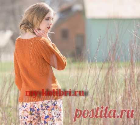 Модный пуловер спицами Caldwell pullover