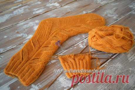 Схема узора для носков «ложная» коса (вязание, схемы и фото) - Irena Handmade