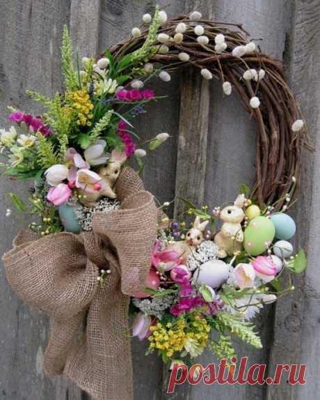 Декоративные весенние веночки