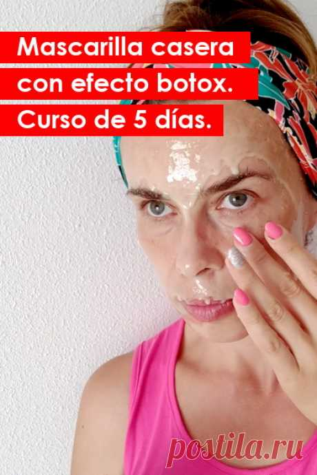 Mascarilla efexto botox