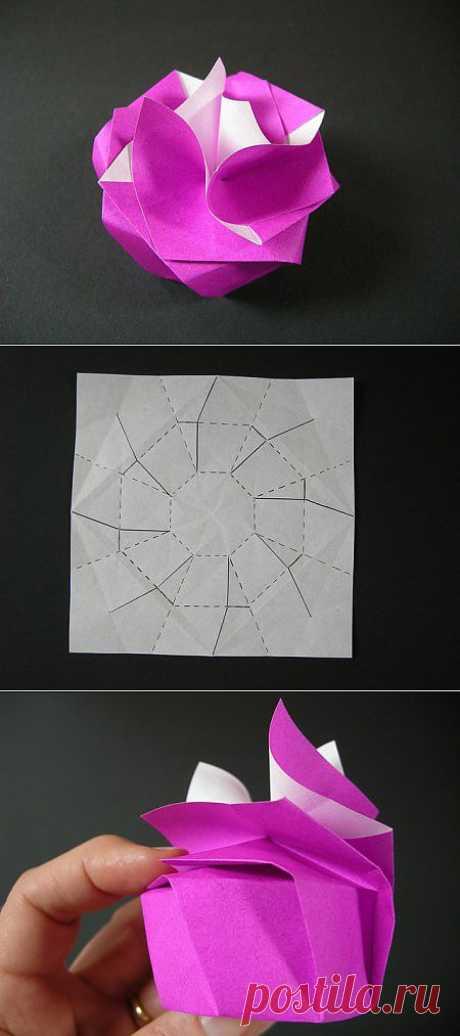 Оригами коробочка Виктория. Забавная модель.