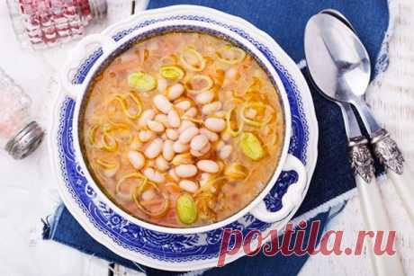 Настоящее лакомство-сытный суп из белой фасоли - Великий повар - пошаговые фоторецепты