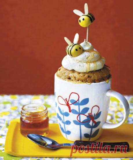 Медовое пирожное в кружке — в микроволновке за 10 минут