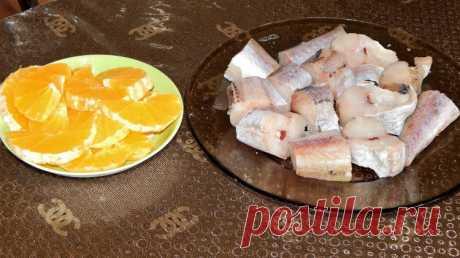 Минтай с апельсинами - о-очень вкусно - Простые рецепты Овкусе.ру