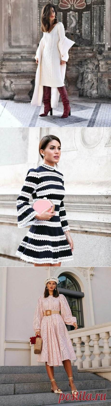 Платье с длинным рукавом 2020: самые модные фасоны | Люблю Себя