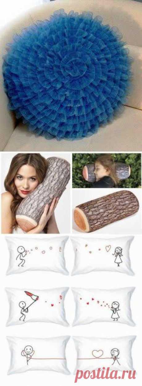 Креативные подушки в вашем доме.