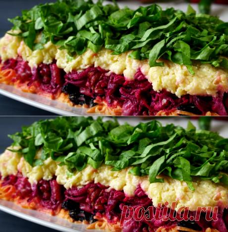 Слоеный салат «Дюймовочка». Сметается со стола первым - Счастливый формат