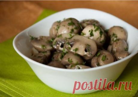 Рецепт маринованных грибов в мультиварке
