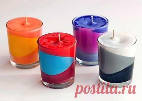 Нарядные цветные свечи