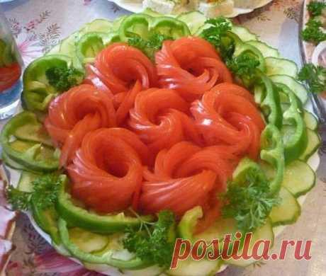Праздничные овощные нарезки / Рукоделие