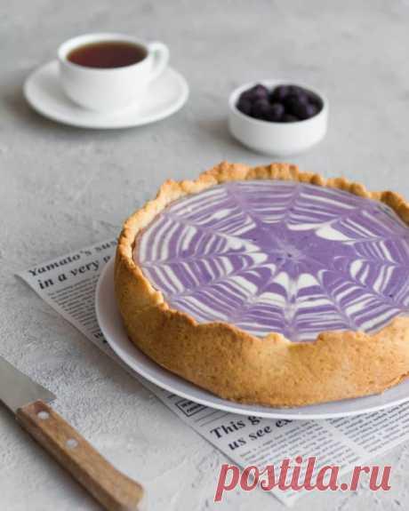 Чернично-ванильный творожный пирог
