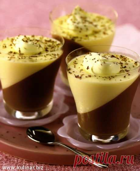 Диетический шоколадно-ванильный мусс Подготовка 20 минут + охладжение Приготовление не требуется Ингредиенты: 22 грамма пищевого желатина 300...