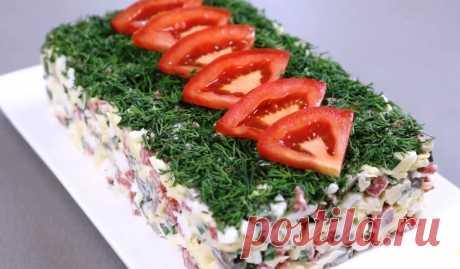 Потрясающий салатик за 5 минут. Просто, быстро, вкусно и красиво!