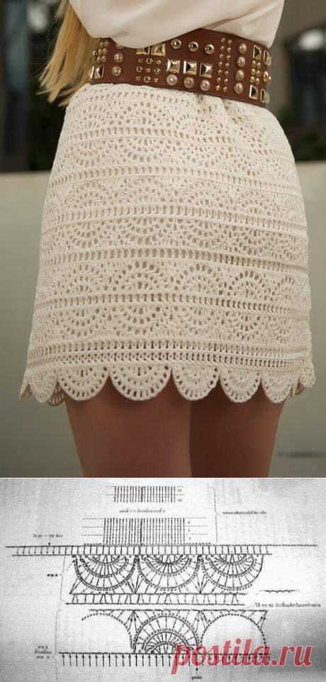 >Белая юбочка....
