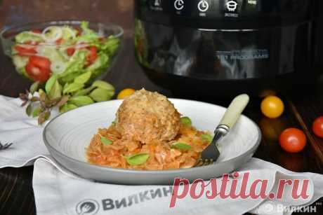 Lazy stuffed cabbage in the crock-pot.