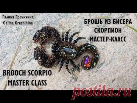Брошь из бисера скорпион мастер класс | Scorpio brooch